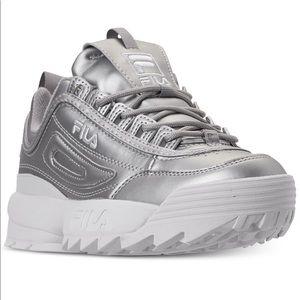 Fila Shoes - Fila Distruptor 2 premium metallic sneakers womens
